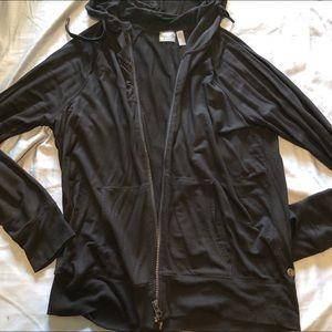 Zella black zip up hoodie